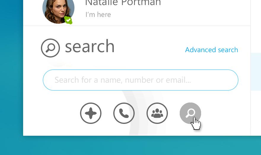 Skype - bottom buttons