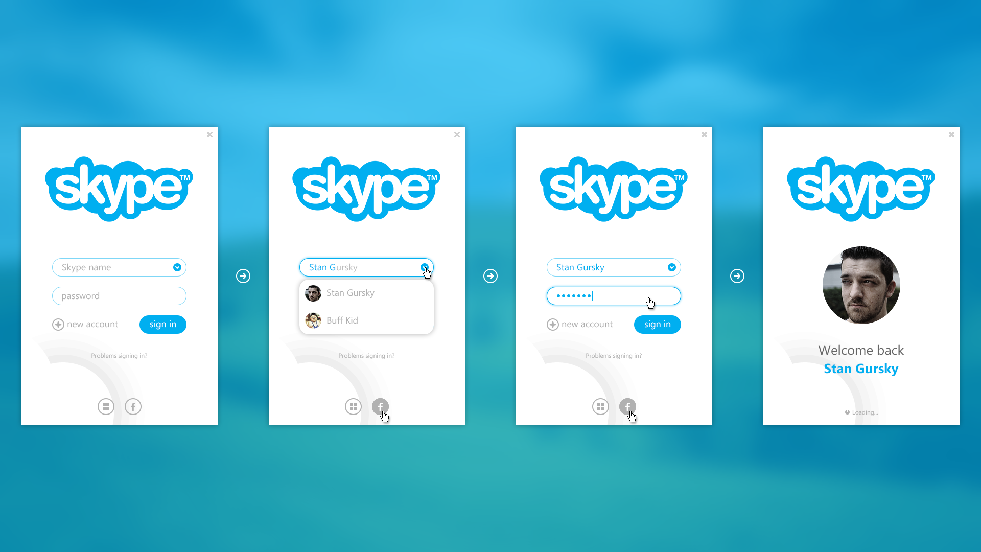 Skype - login proccess