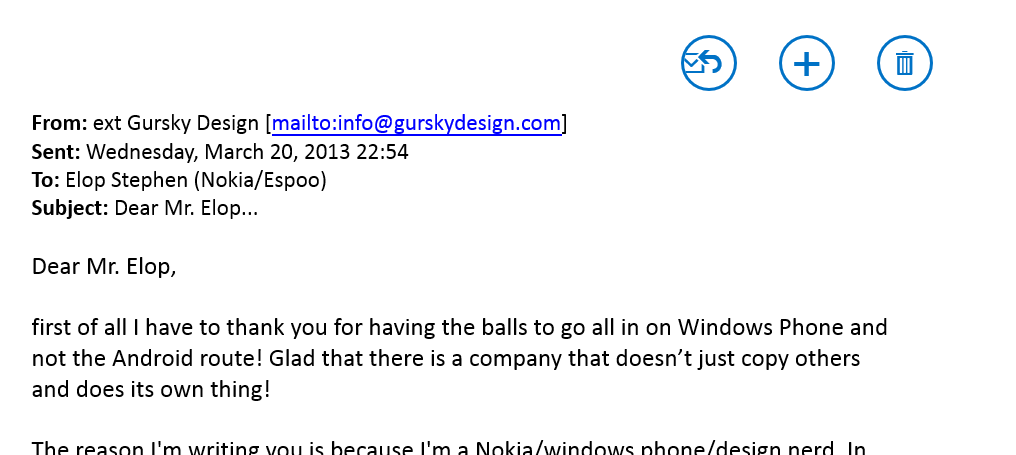 Email for Stephen Elop