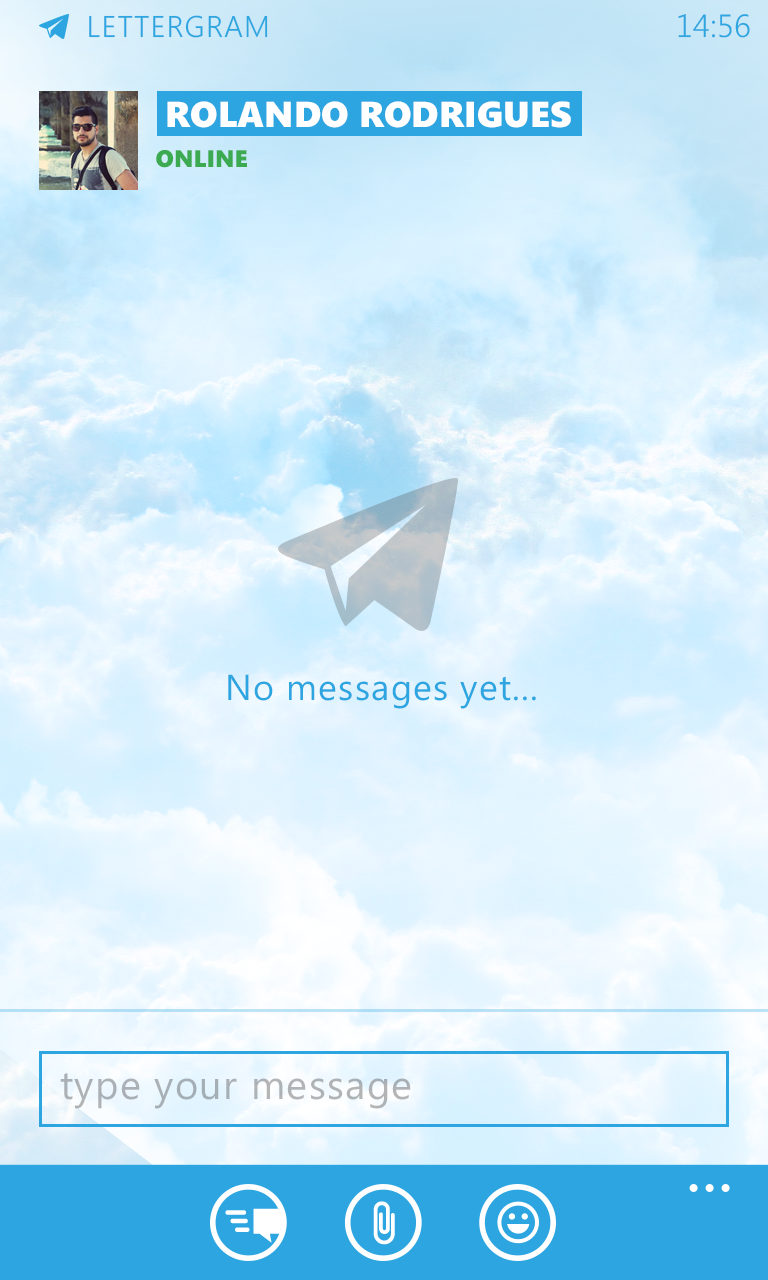 Telegram - Chat (no messages yet)
