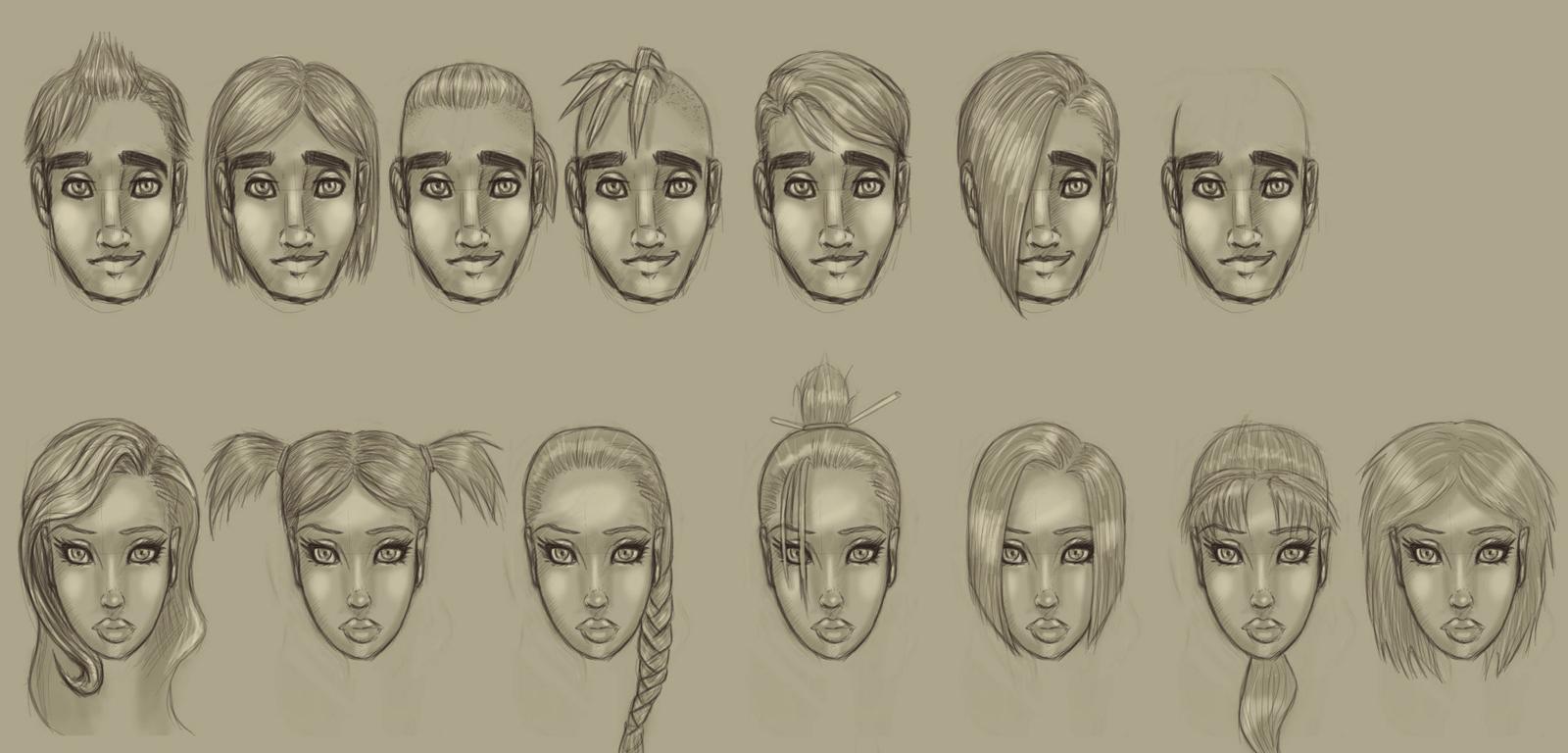 Bailamo - Character hairstyles